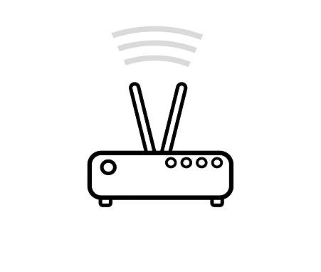 Router line art illustration