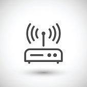 Router line icon
