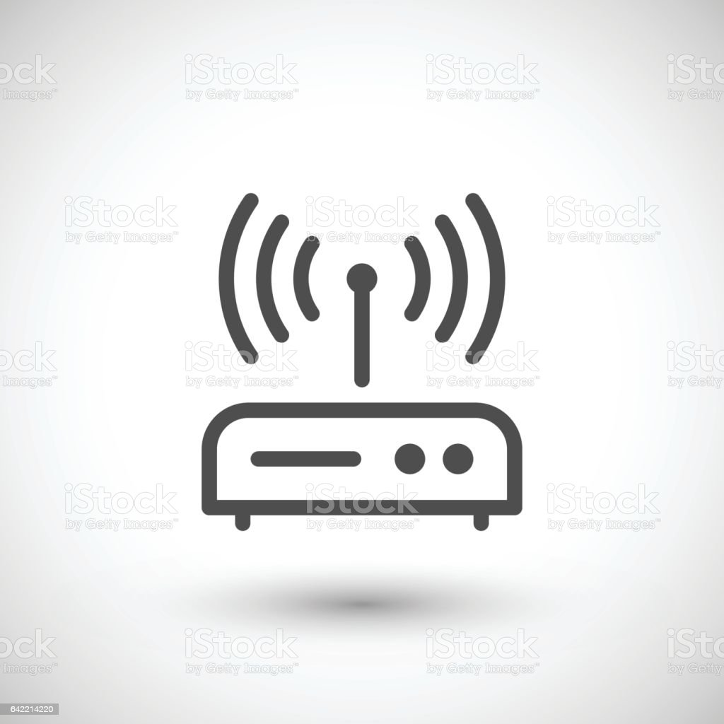 Router line icon vector art illustration