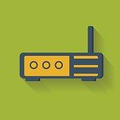 Router symbol,clean vector