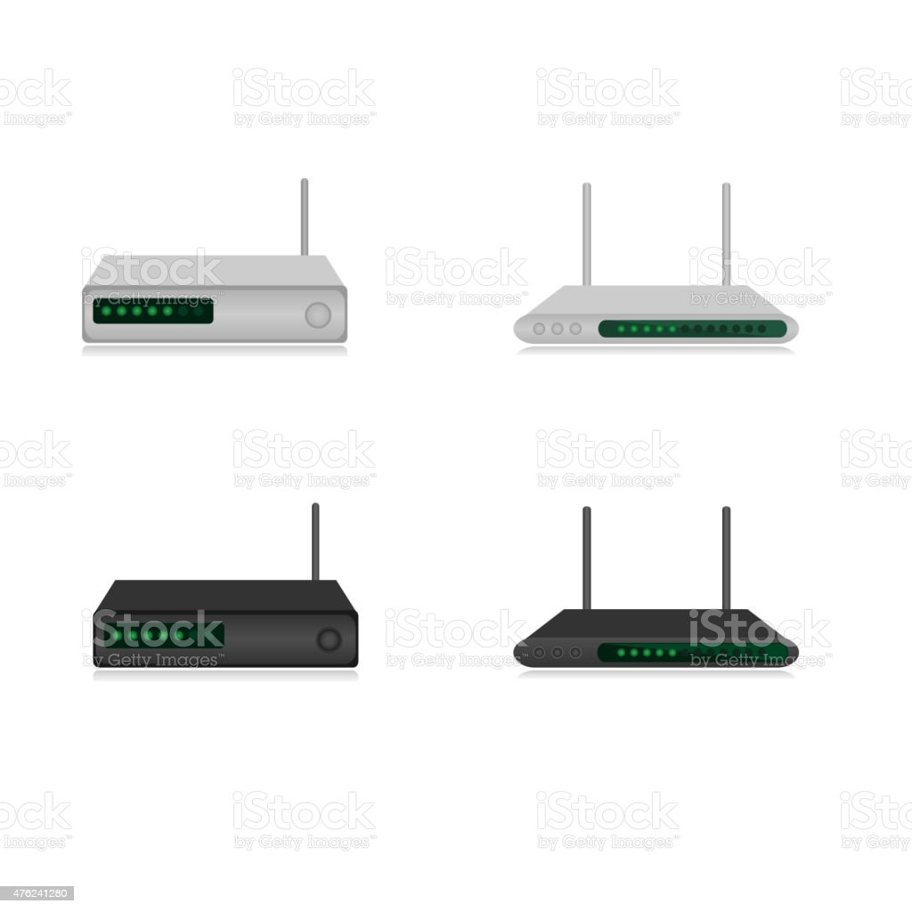 Routers vector art illustration