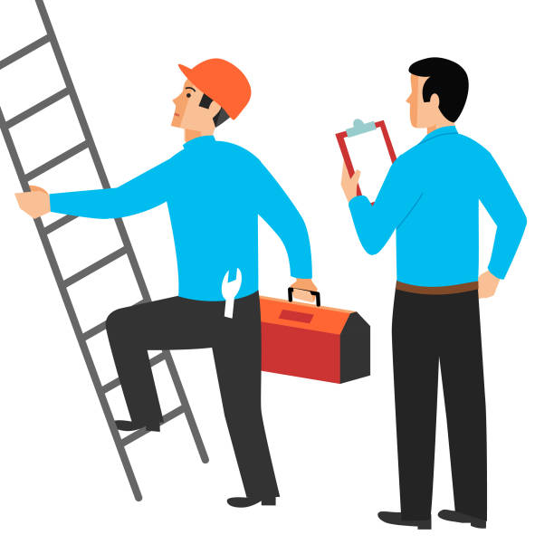 routine inspection - russelltatedotcom stock illustrations