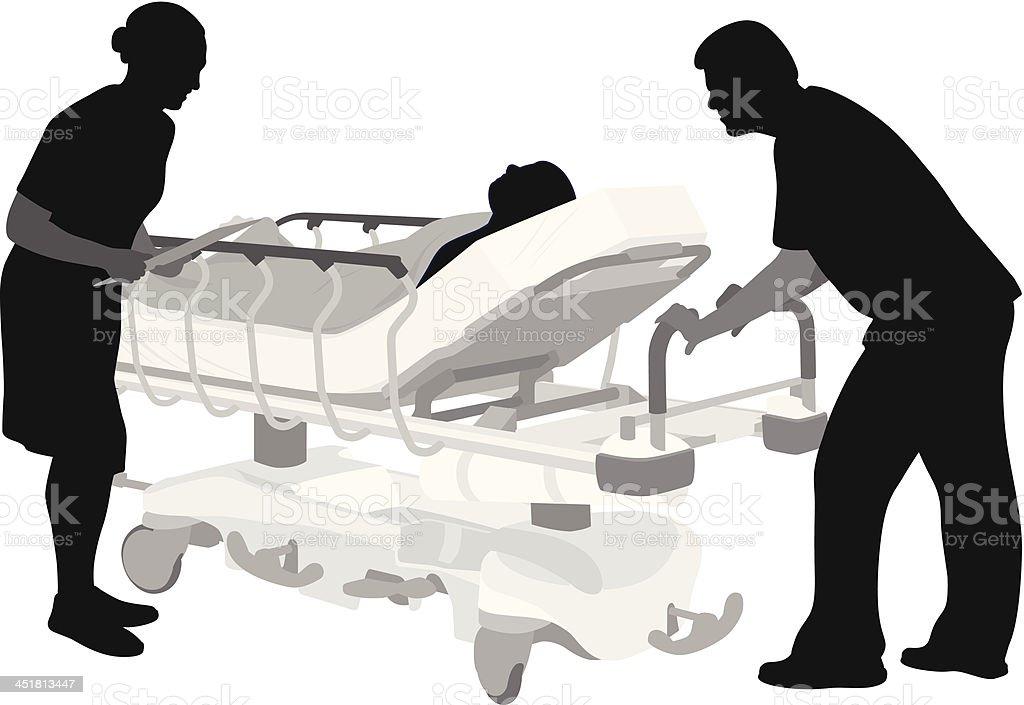 Routine vector art illustration