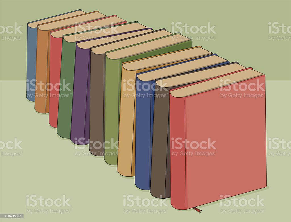 Row of books royalty-free stock vector art