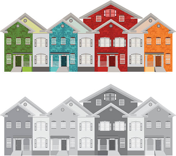 Apartment Clip Art: Best Apartment Complex Illustrations, Royalty-Free Vector