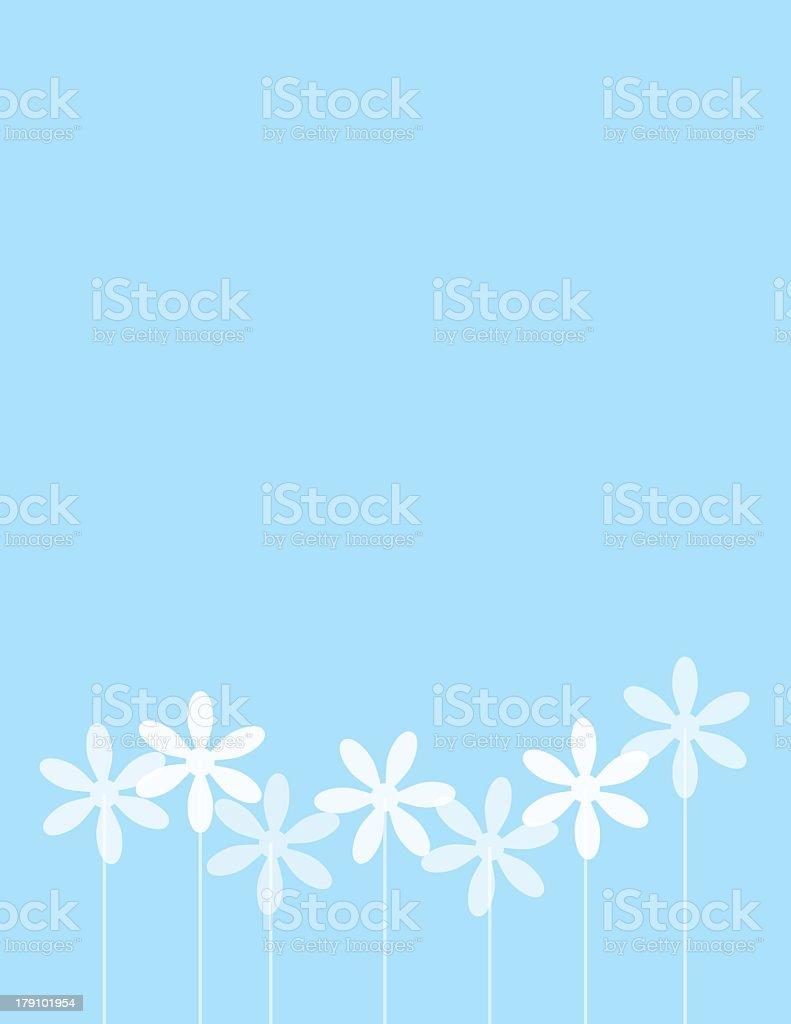 Row Of Daisies royalty-free stock vector art