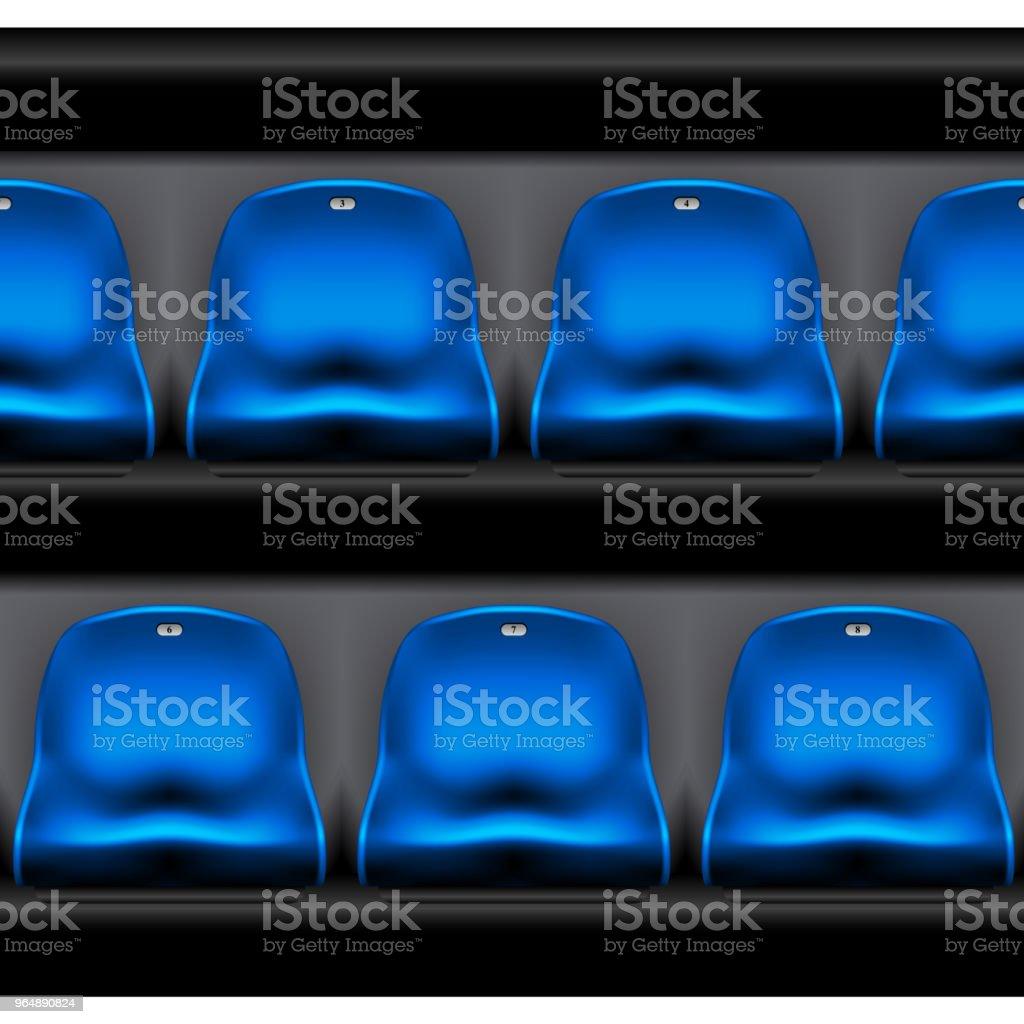 Row of plastic stadium seating - sport arena chairs royalty-free row of plastic stadium seating sport arena chairs stock vector art & more images of audience