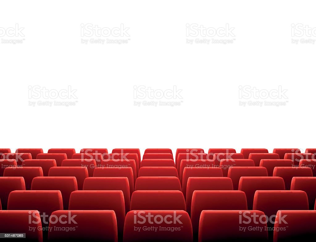 Row of Seats in Theatre vector art illustration