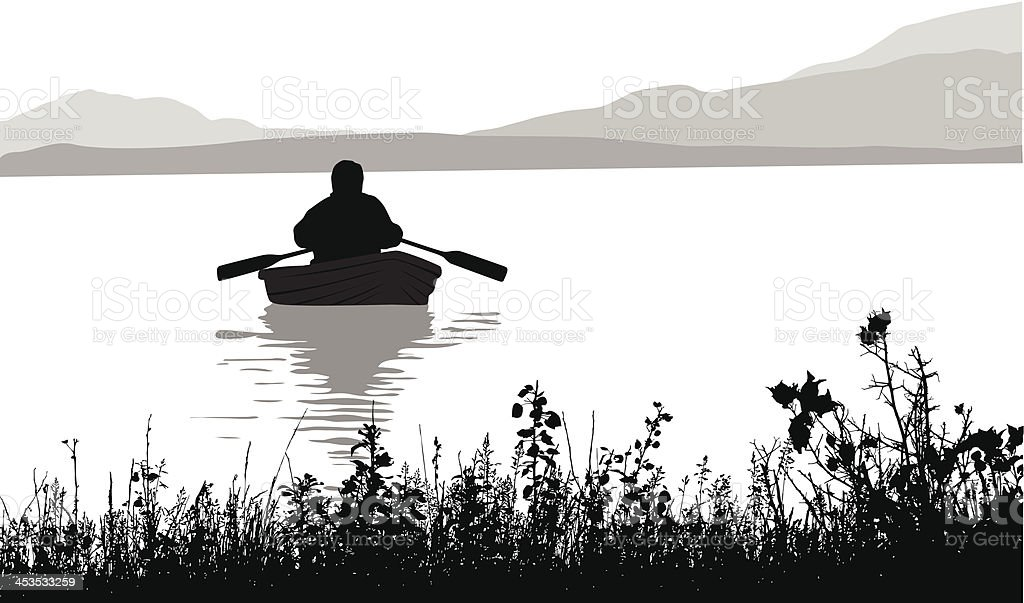 Rowboat royalty-free rowboat stock vector art & more images of back lit