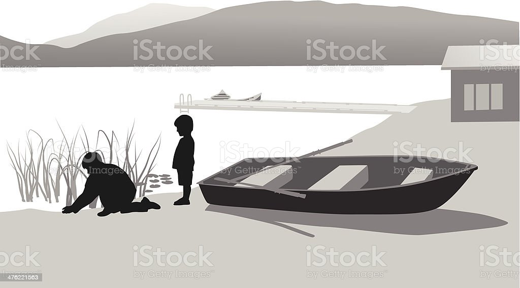 Rowboat royalty-free stock vector art