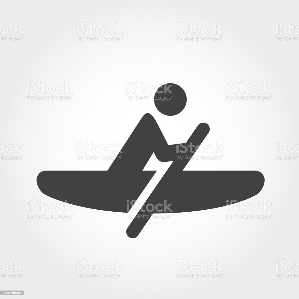 Rowing Icon - Extreme Sports - Iconic Series vector art illustration