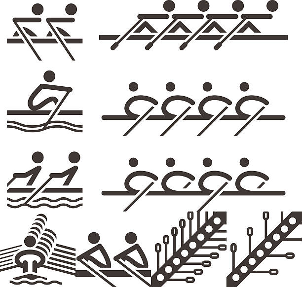Rudern-Symbole – Vektorgrafik