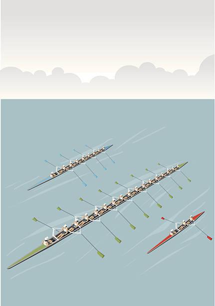 Rudern-team – Vektorgrafik