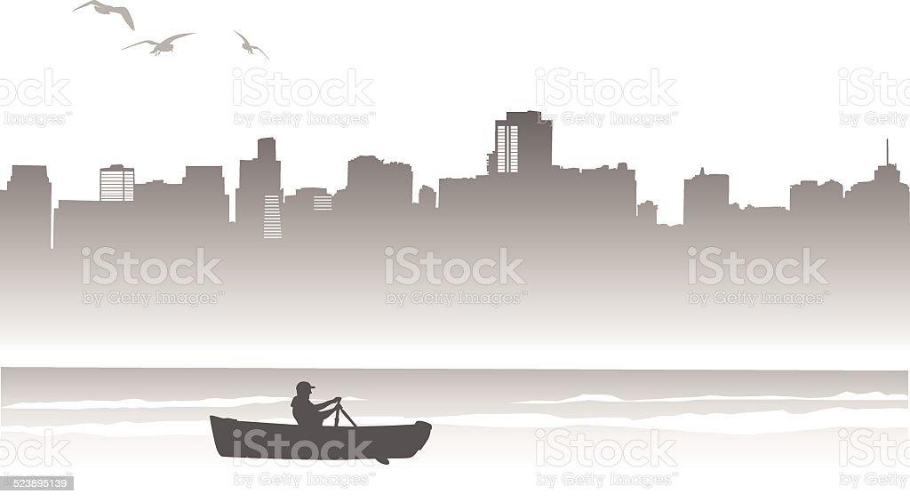 RowingRandy vector art illustration
