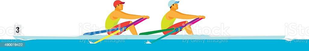 Rowing.Rowers – Vektorgrafik