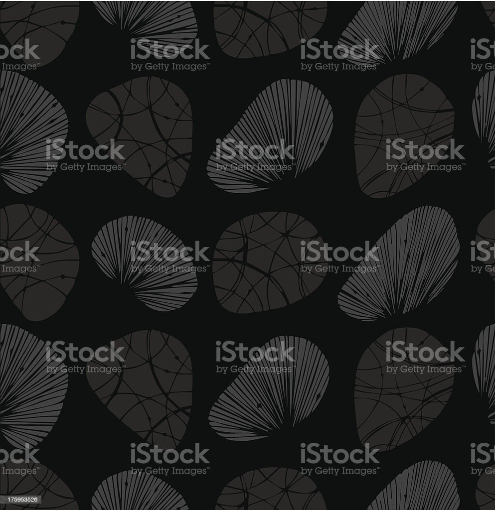 Rows of decorative stones and shells royalty-free stock vector art