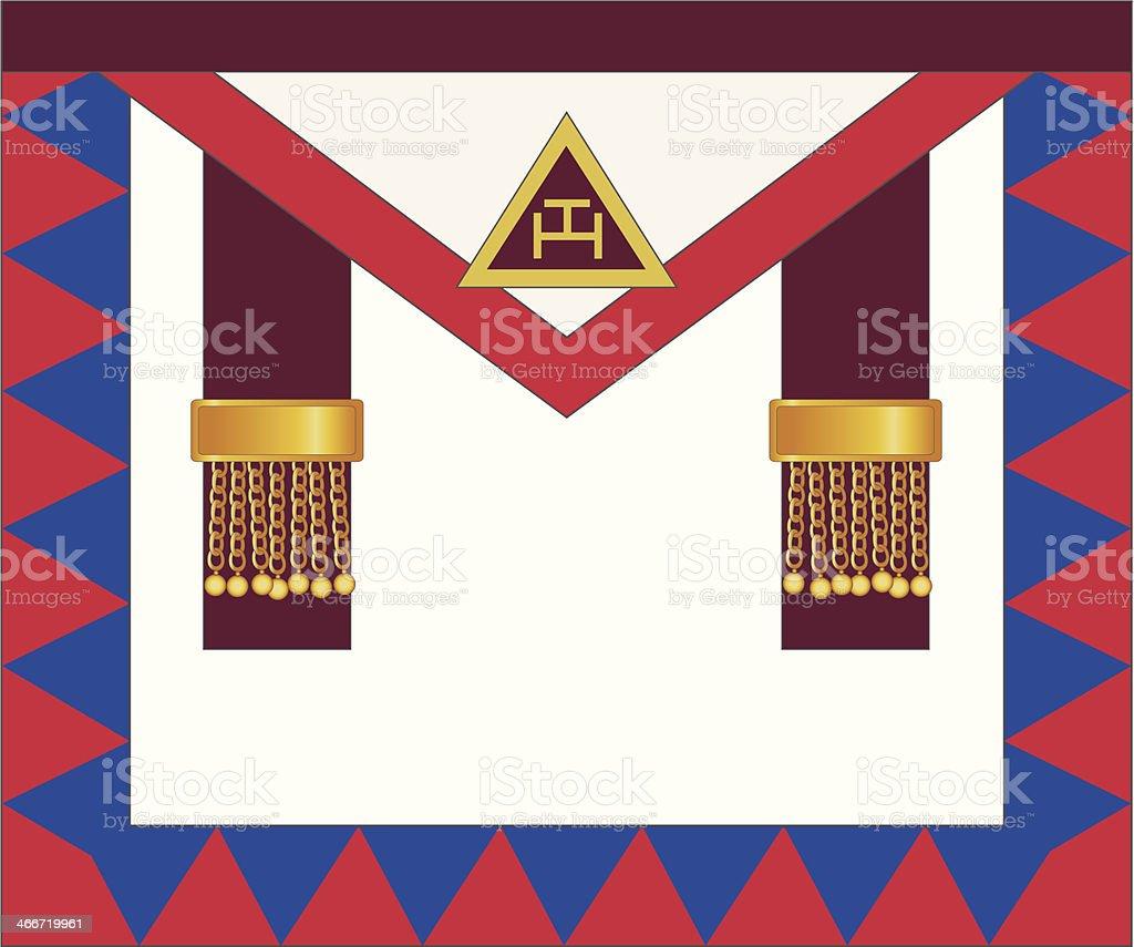 Royal Arch Masonic Principals Apron Stock Illustration - Download