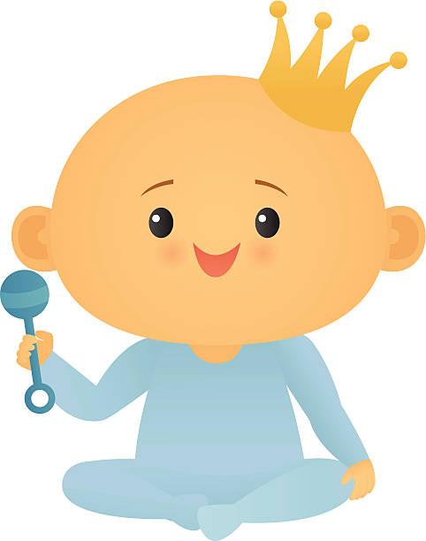 stockillustraties, clipart, cartoons en iconen met royal baby (boy) - alleen één jongensbaby