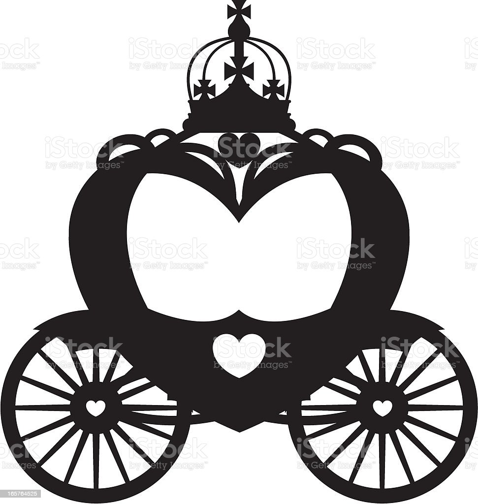 Royal Carriage In Silhouette Stock Vector Art & More ...
