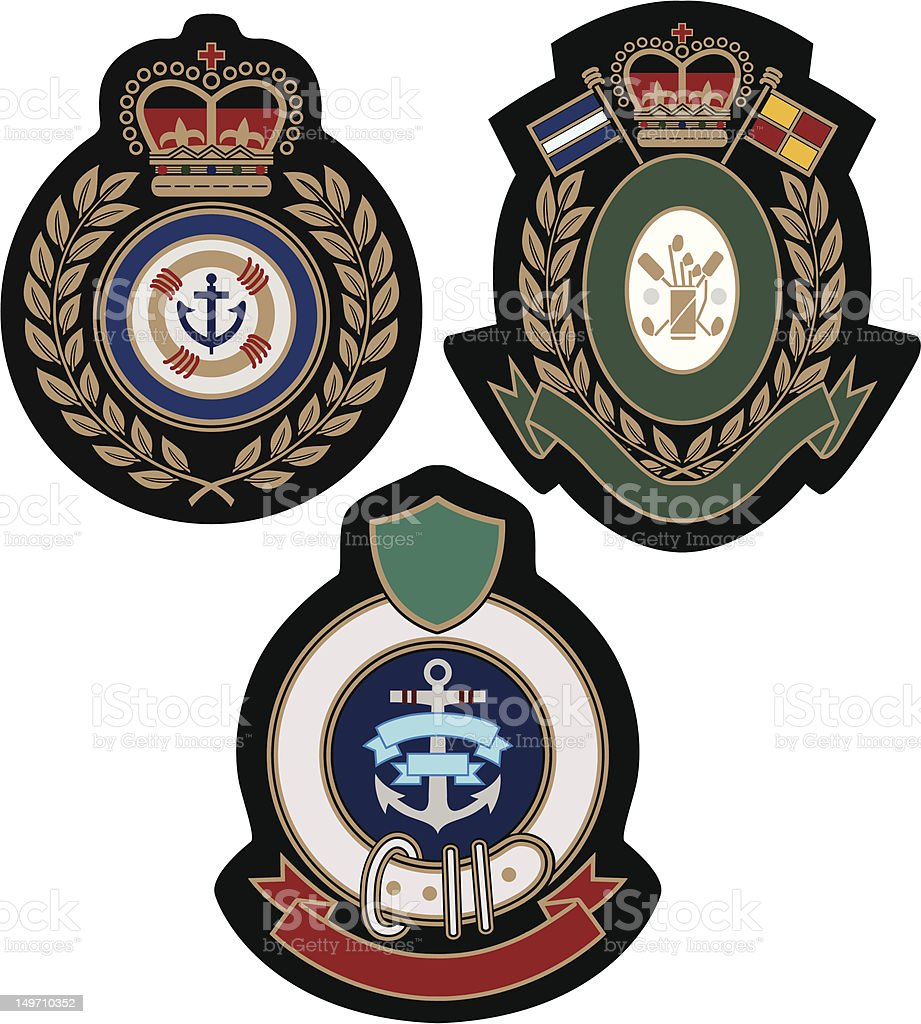 royal classic college badge royalty-free stock vector art