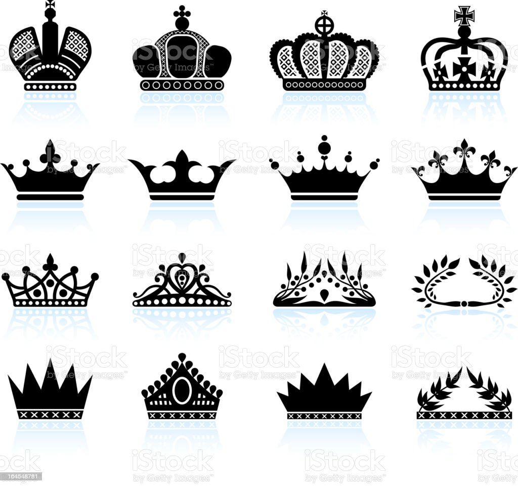 Fabuleux Royal Crown Et Tiare Ensemble Dicônes Vectorielles Libres De  WR78