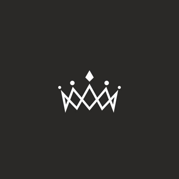 Royal crown icon mockup monogram, jewel tiara princess beauty symbol, thin line design element Royal crown icon mockup monogram, jewel tiara princess beauty symbol, thin line design element diademe stock illustrations