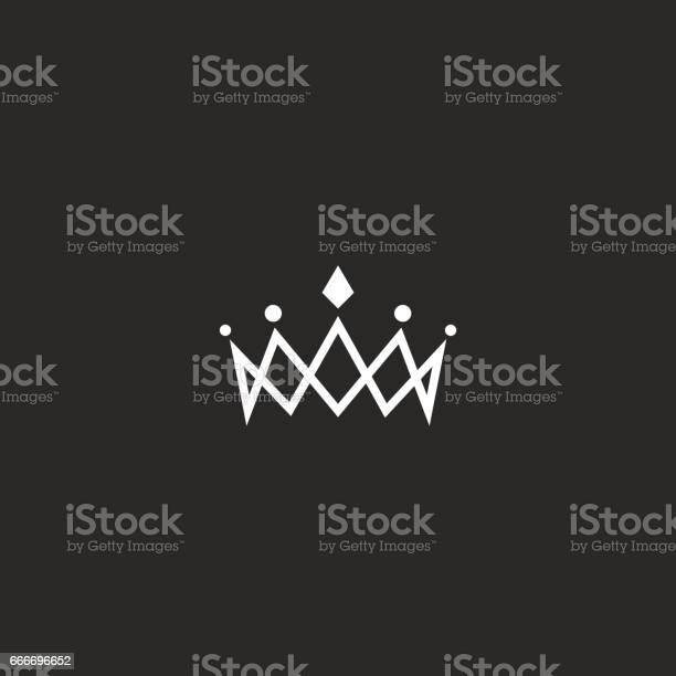 Monogramme De Maquette Icône Couronne Royale Symbole De Beauté Princesse Bijou Tiara Élément De Conception Fine Ligne Vecteurs libres de droits et plus d'images vectorielles de Arts Culture et Spectacles
