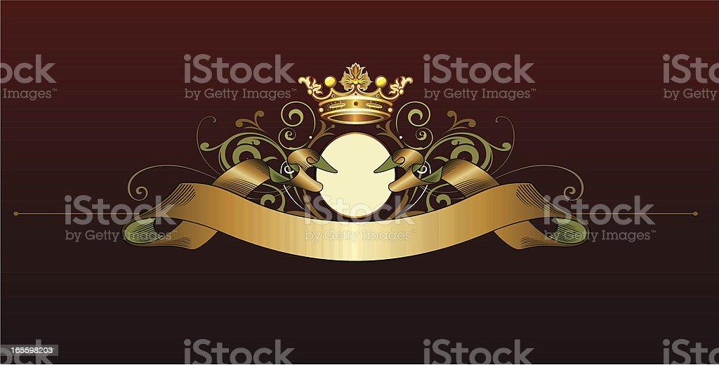 Royal Crown Ribbon royalty-free royal crown ribbon stock vector art & more images of art