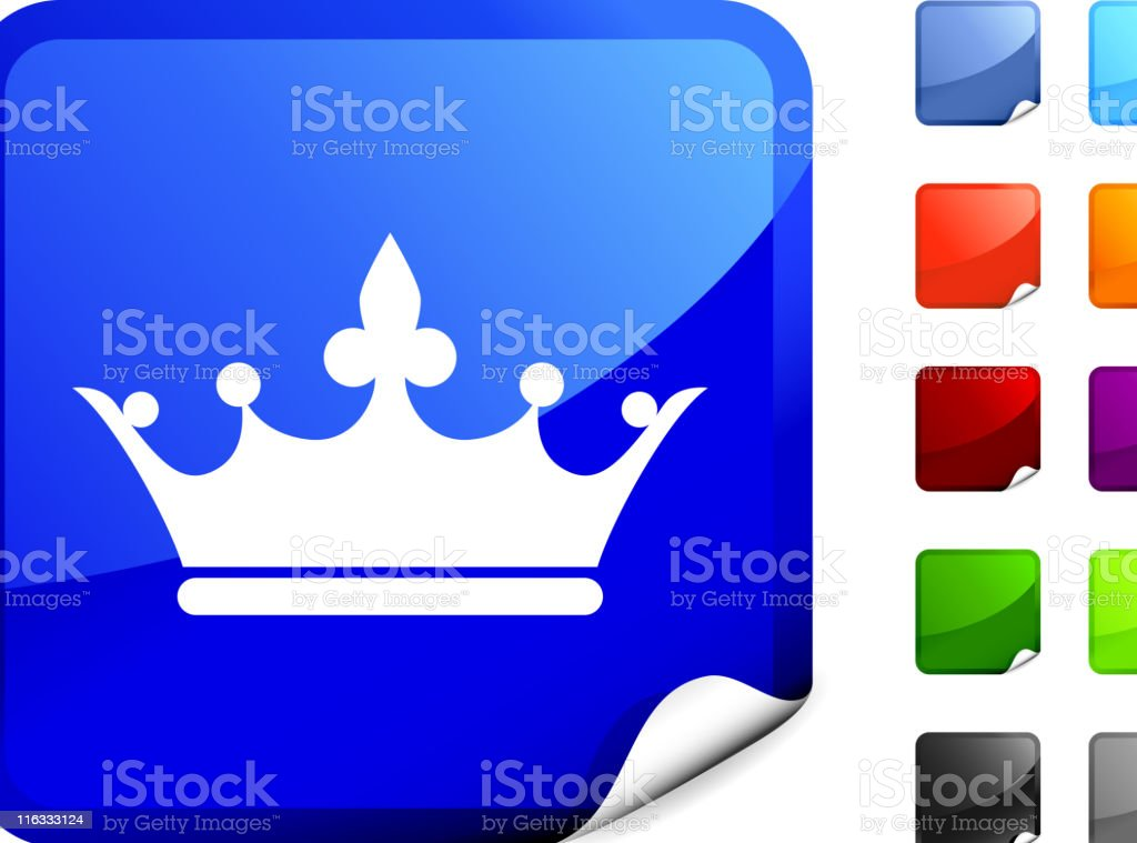 royal crown royalty free vector art on Blue Sticker royalty-free royal crown royalty free vector art on blue sticker stock vector art & more images of authority
