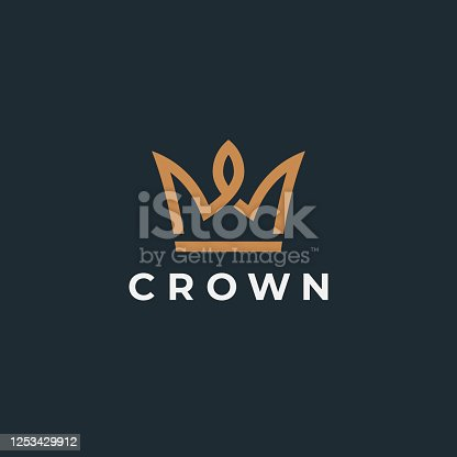 Royal crown symbol. Geometric icon. Vector design template.