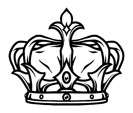 Royal crown tattoo template
