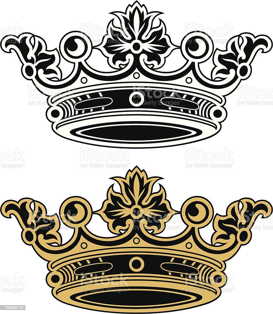 Royal Crown ilustración de royal crown y más banco de imágenes de anticuado libre de derechos