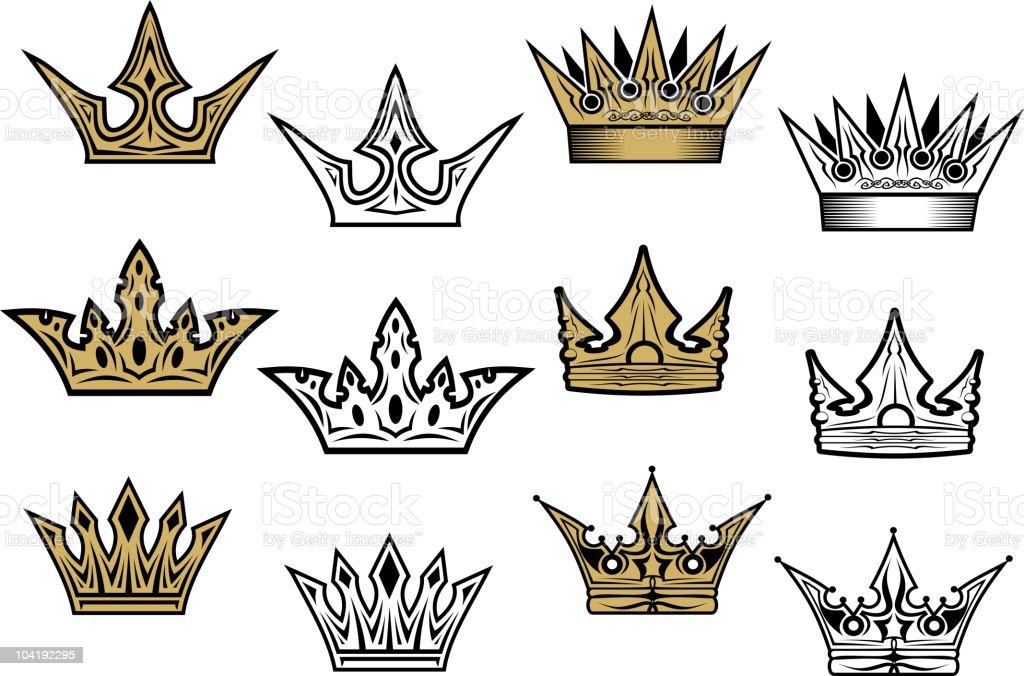 Royal crowns royalty-free stock vector art
