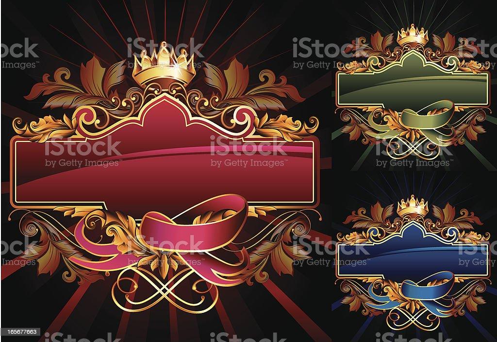 Royal Tag royalty-free stock vector art