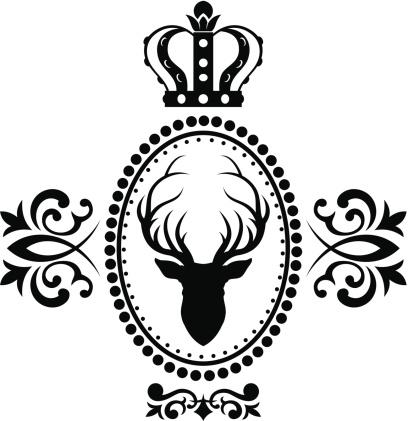 Royal deer emblem