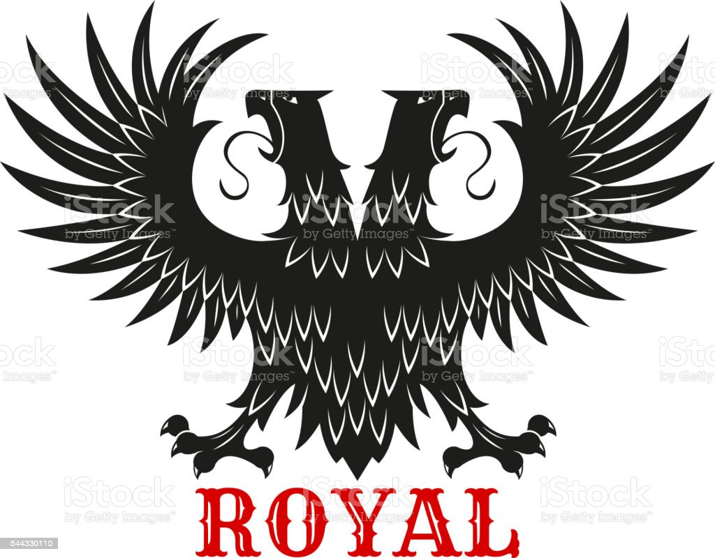 Royal double headed eagle black heraldic symbol stock vector art royal double headed eagle black heraldic symbol royalty free royal double headed eagle black heraldic buycottarizona