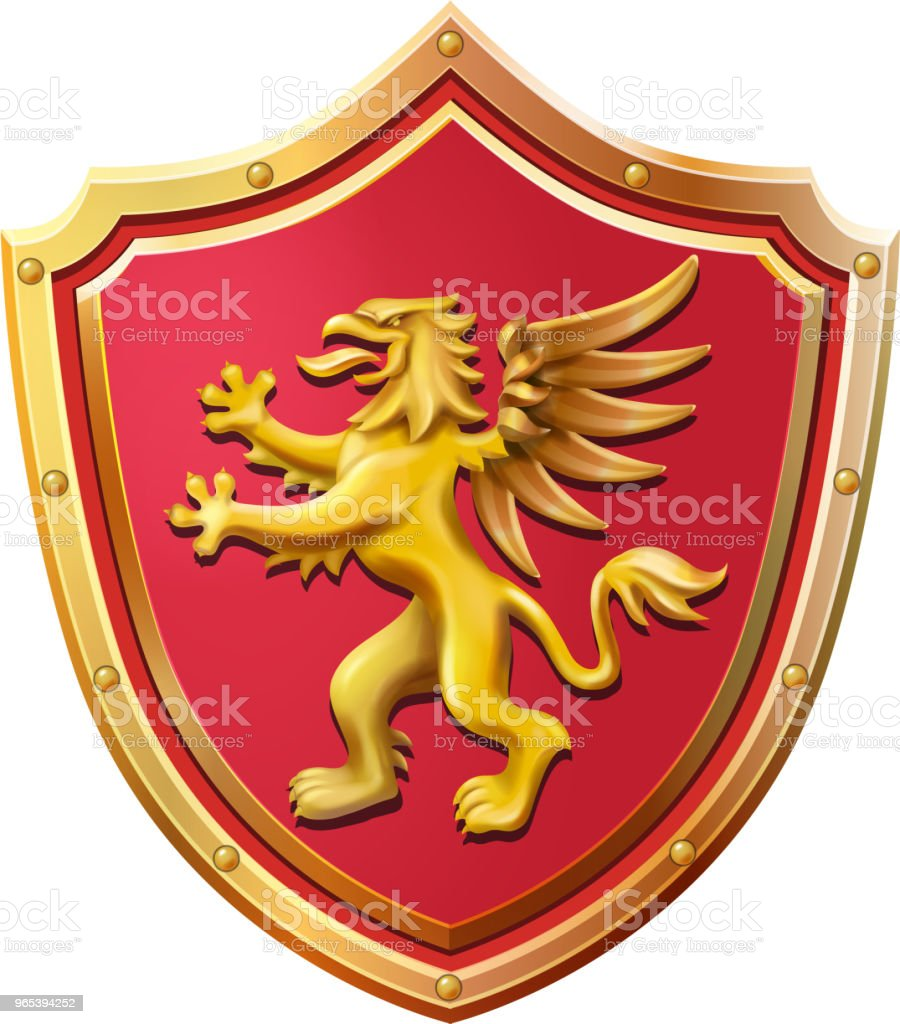 Royal emblem red shield gold griffin vector illustration royalty-free royal emblem red shield gold griffin vector illustration stock vector art & more images of animal