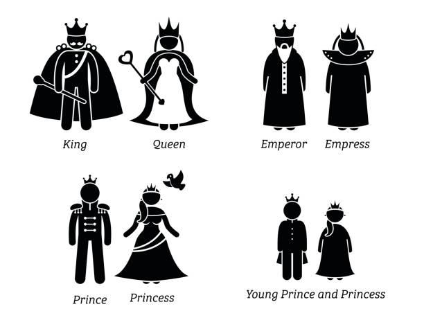 königliche familie. - prince stock-grafiken, -clipart, -cartoons und -symbole