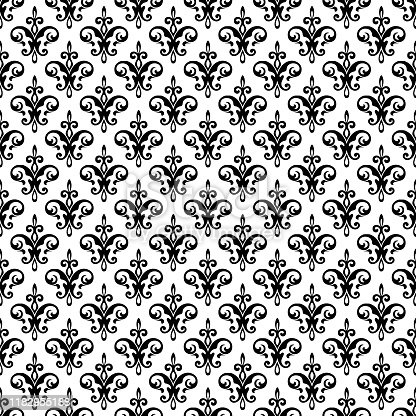 Royal fleur de lis seamless pattern - damask ornament vector. Perfect for backgrounds, fabric, banner, curtain etc.