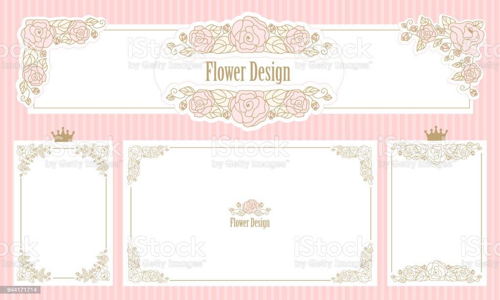 Ilustración de Marco Floral Royal Conjunto De Las Fronteras De La ...