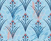 istock Royal Floral symmetrical seamless pattern. Classic wallpaper ornament. 1223248518