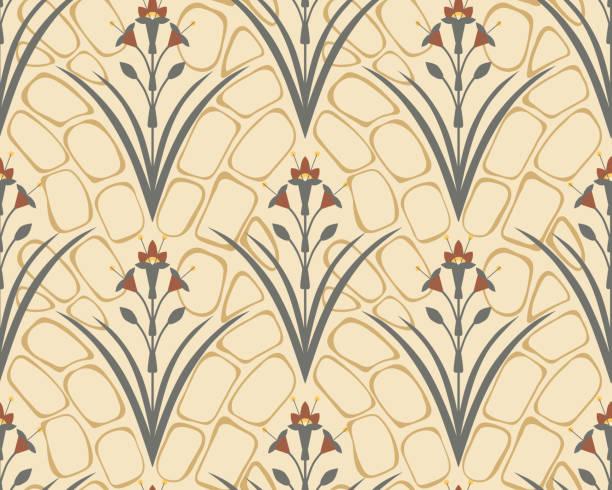 bildbanksillustrationer, clip art samt tecknat material och ikoner med royal floral symmetriska sömlösa mönster. klassisk tapetprydnad. - beautiful floor