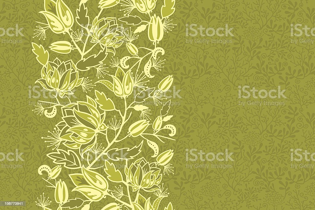 Royal Flowers Ornament and Seamless Pattern Set royalty-free stock vector art