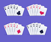 A person holding a royal flush poker gambling playing cards.