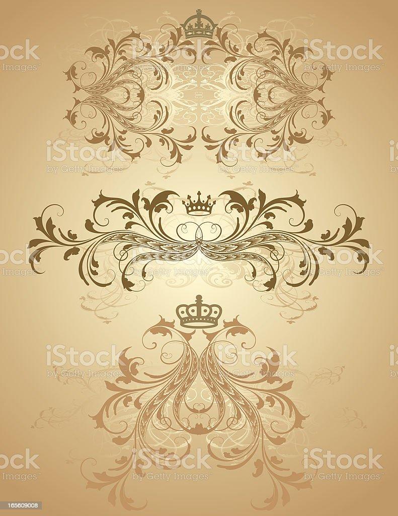 Royal Gradient Elements royalty-free stock vector art