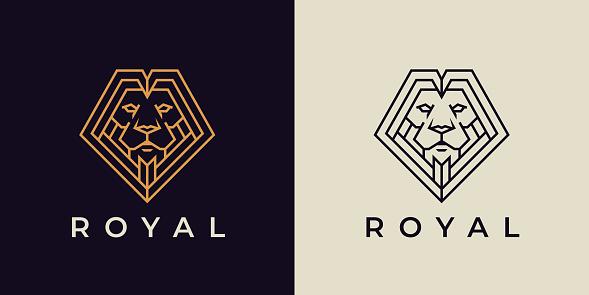 Royal Lion line icon