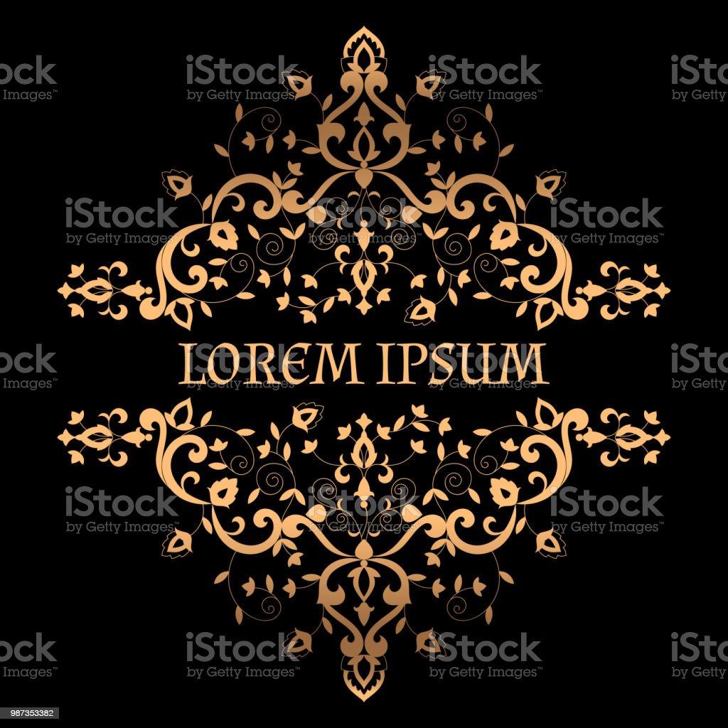 Royal Luxury Background Vector Victorian Arabesque Golden