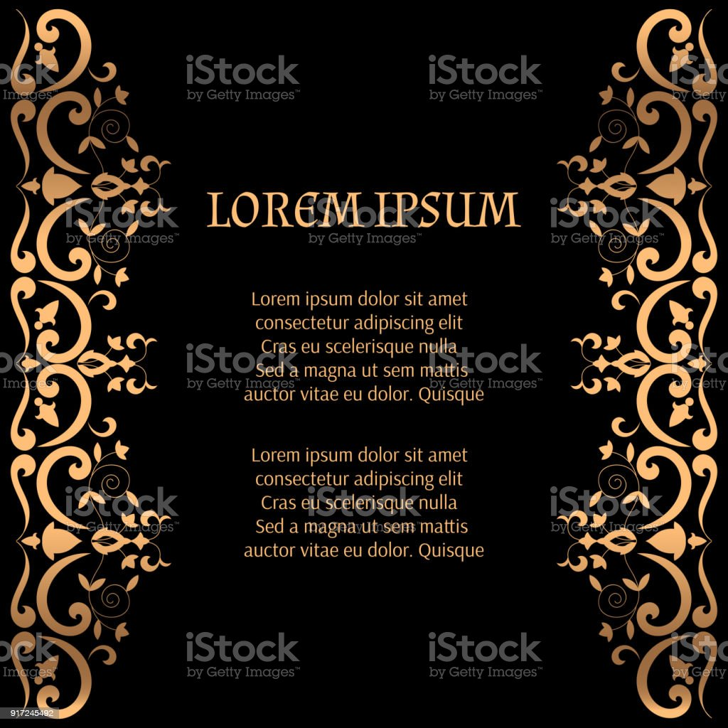 Royal luxury background vector victorian golden border pattern with royal luxury background vector victorian golden border pattern with flower motif vintage design for stopboris Images