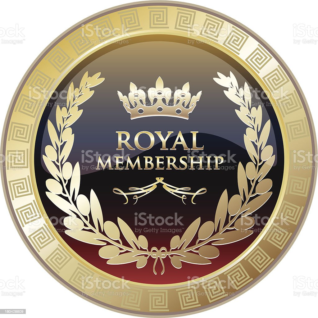 Royal Membership Gold Medal royalty-free stock vector art