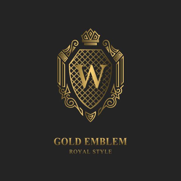 Royal monogram design. Luxury volumetric logo template. 3d line ornament. Emblem with letter W for Business sign, badge, crest, label, Boutique brand, Hotel, Restaurant, Heraldic. Vector illustration vector art illustration